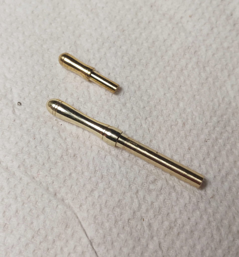 Miniature belaying pins in brass