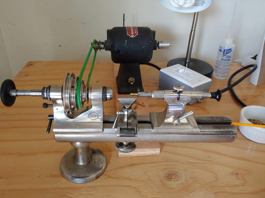 Boley Watchmakers Lathe setup